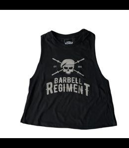 Barbell Regiment Barbell Crop Tank Origins Charcoal - Barbell Regiment