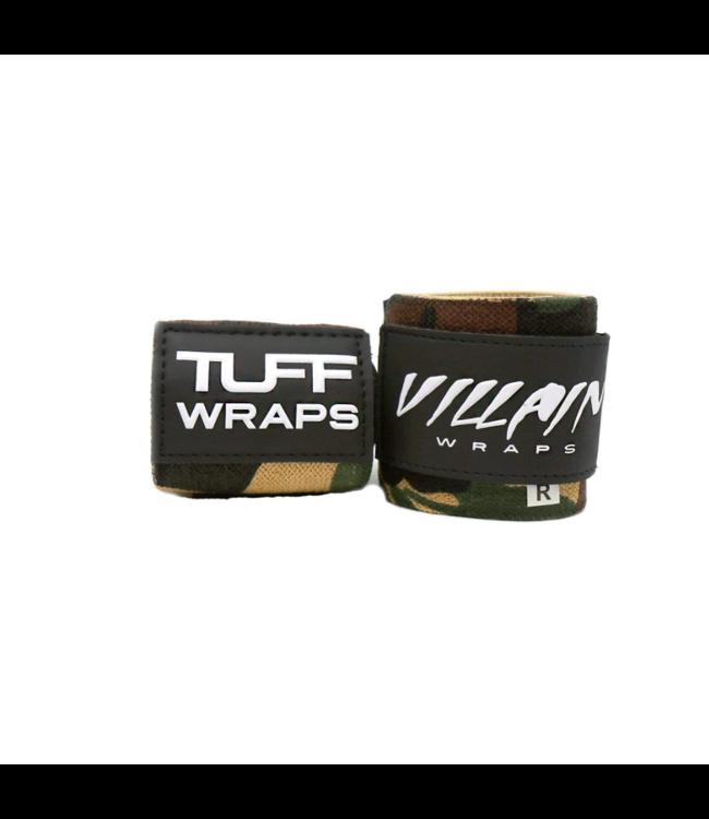 """Tuffwraps 16"""" (40cm) Protège Poignet BLACK VILLAIN Woodland Camo - TuffWraps"""