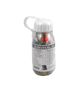Elite First Aid Waterproof Clear Plastic Bottle Survival Kit