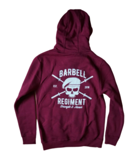 Barbell Regiment Heavy Duty Hoodie - Burgundy