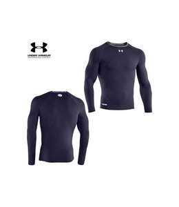 Under Armour Copy of HeatGear® Armour Long Sleeve Compression Shirt (Blue)