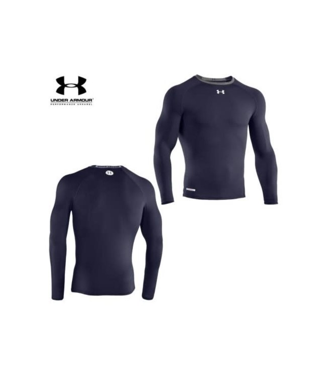 Under Armour Copy of HeatGear® Armour Long Sleeve Compression Shirt (Blue)