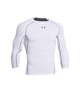 Under Armour HeatGear® Armour Long Sleeve Compression Shirt (White)