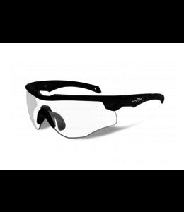 Wiley X Rogue Comm zwart kleurloos scherm