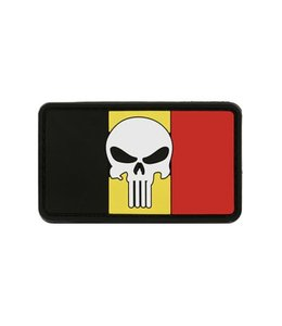 MFH Belgium Flag Punisher PVC Patch