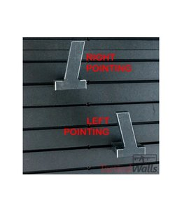 Tactical Walls Double Stack Pistol Hanger - Right Pointing
