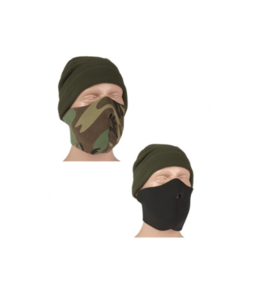 Mil-Tec Neoprene Half Face Mask (Black/Woodland)