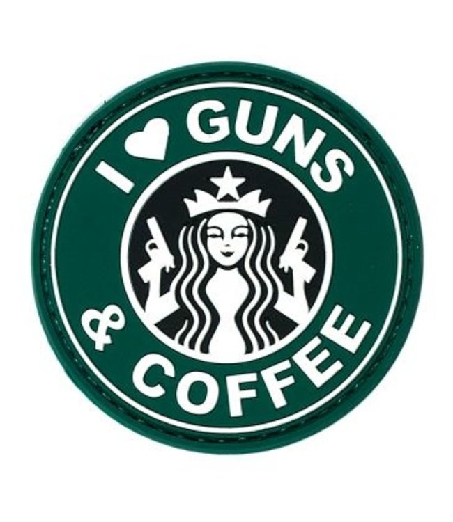 JTG Guns And Coffee Rubber Patch Color