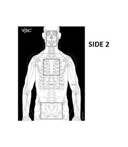 VTAC Double Sided Tactical Target- Pack of 50 pcs