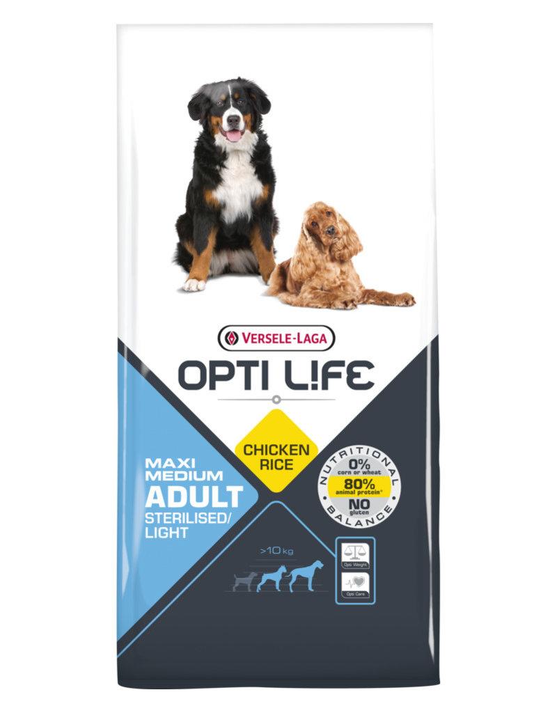 Versele - Laga: Opti Life Opti Life Adult Sterilised/Light Medium & Maxi