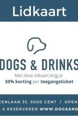 Dogs & Drinks Lidkaart gedurende 1jaar: 50% korting per toegangsticket