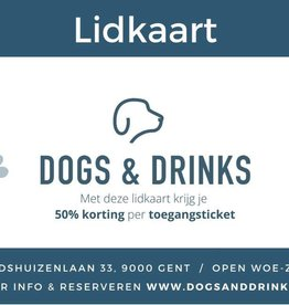 Dogs & Drinks Lidkaart