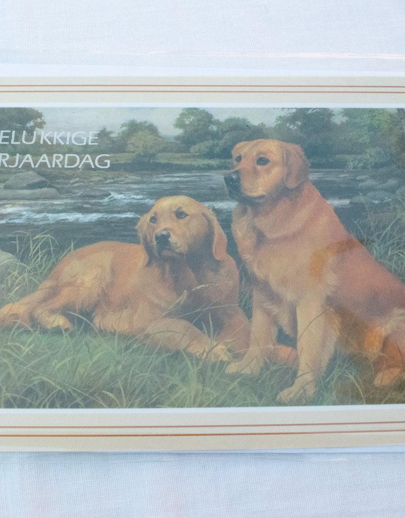 Dogs & Drinks Postkaart Gelukkige verjaardag V1