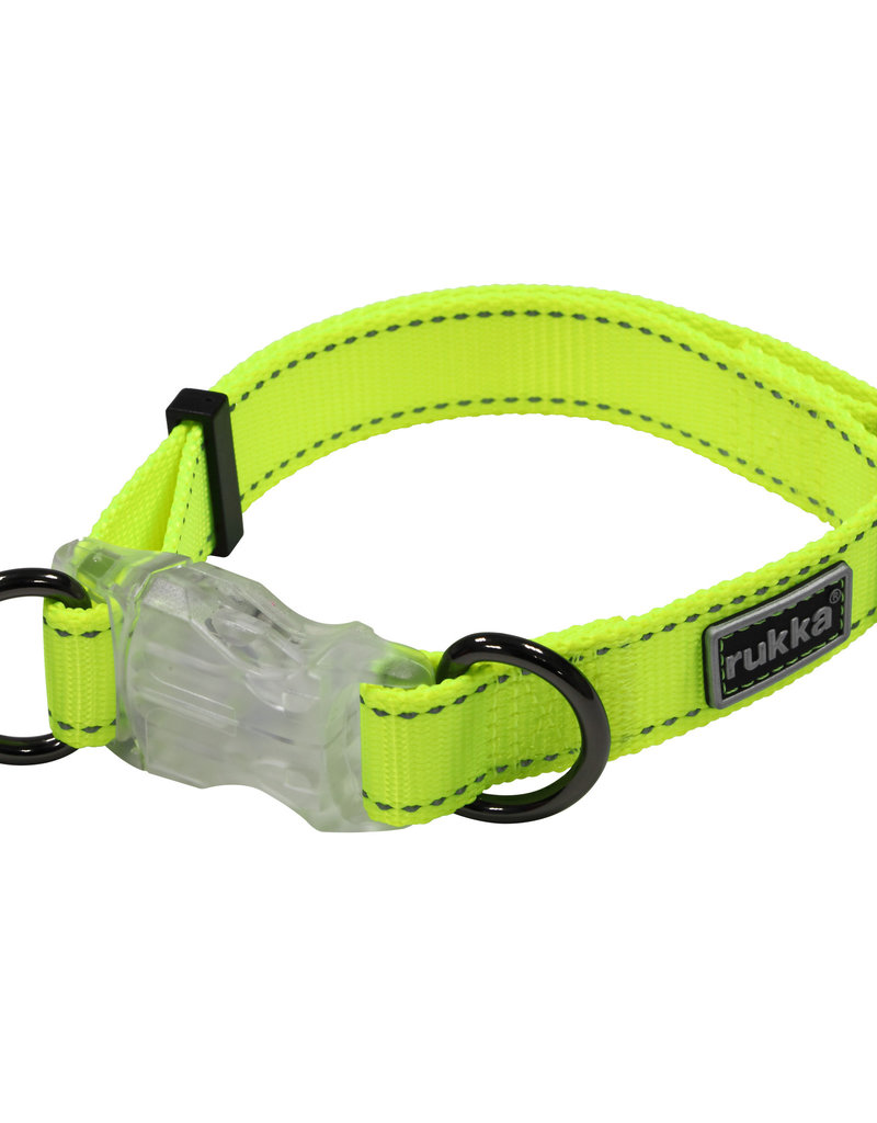 RukkaPets Neon Fluo  Halsband Met Verlichting