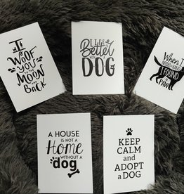 Dogs & Drinks 5 verschillende kaarten: Dog quotes