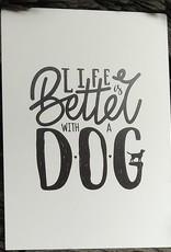 Dogs & Drinks 5 verschillende kaarten: Dog quotes