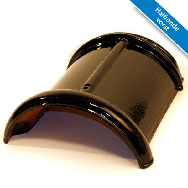 Koramic VHV dakpan Matzwart Verglaasd 371 x 261 mm