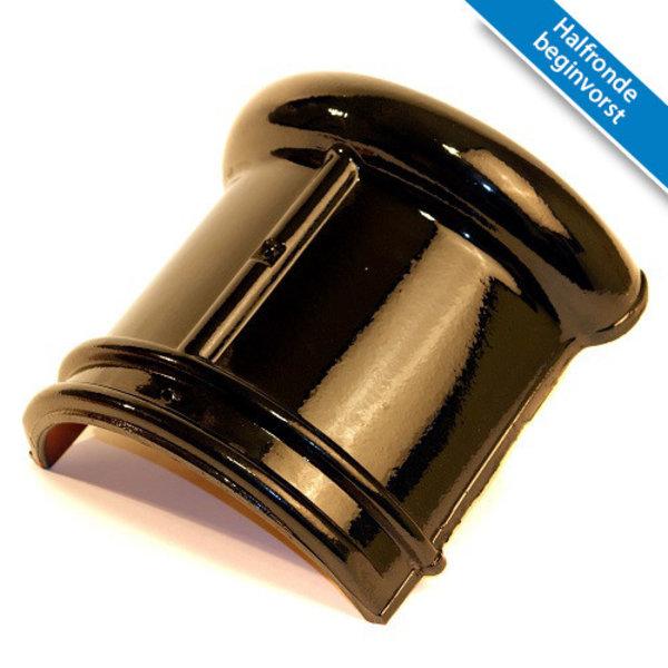 Koramic VHV dakpan Zwart Verglaasd 371 x 261 mm