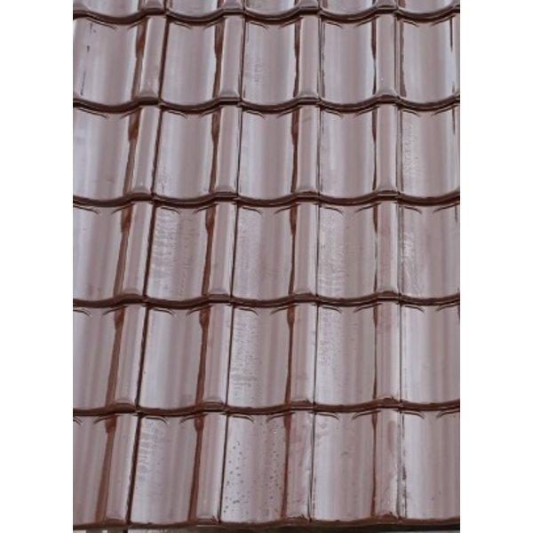 Koramic VHV vario dakpan Bruin Verglaasd 371 x 261 mm