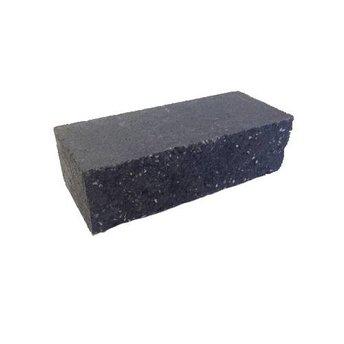 BIA Betongevelstenen Normaalformaat 24x10x7cm Zwart met gebroken reliëf
