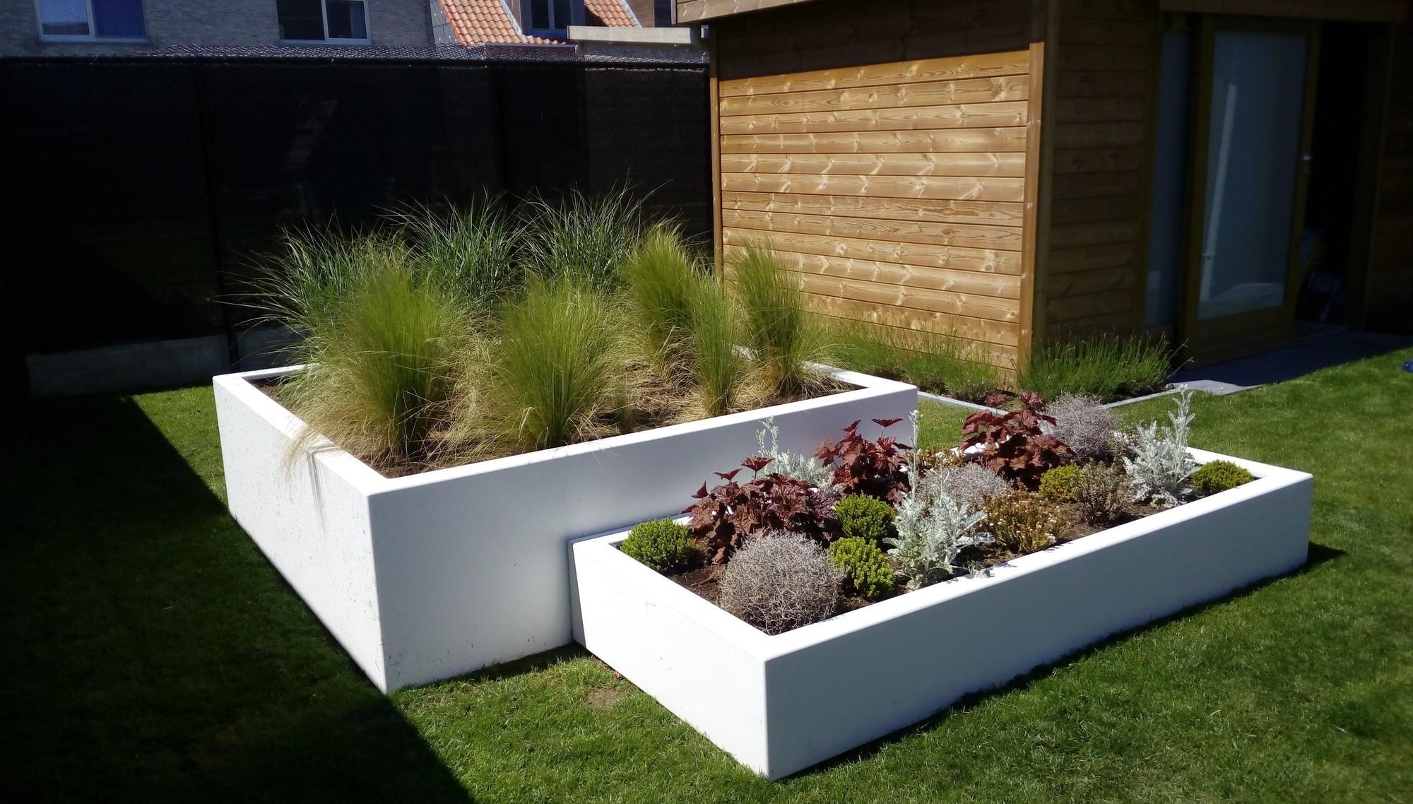 Zelf een plantenbak maken met betonblokken