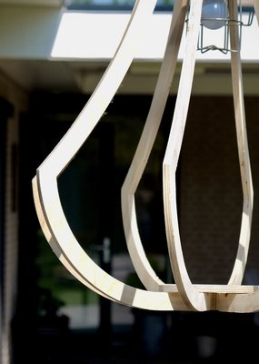 Compaqt Houten Design Lamp