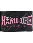 100% Hardcore 100% Hardcore Vlag 'The Brand' Pink