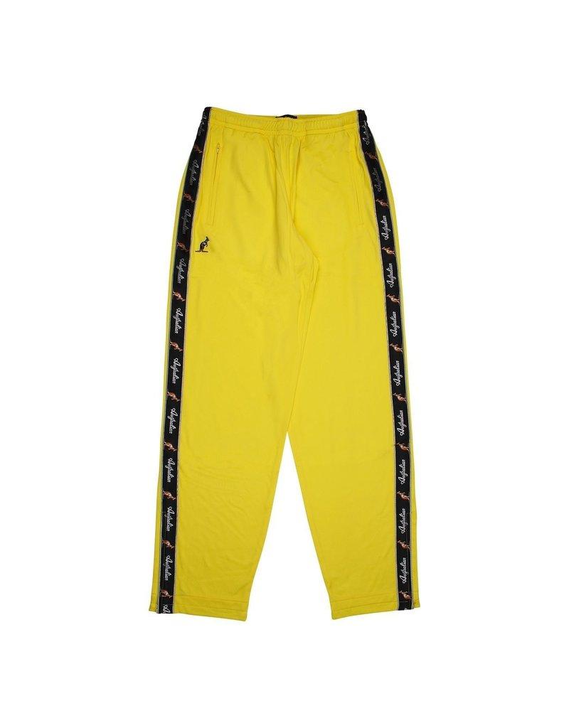 Australian Australian Track Pants with tape (Neon Yellow/Black)