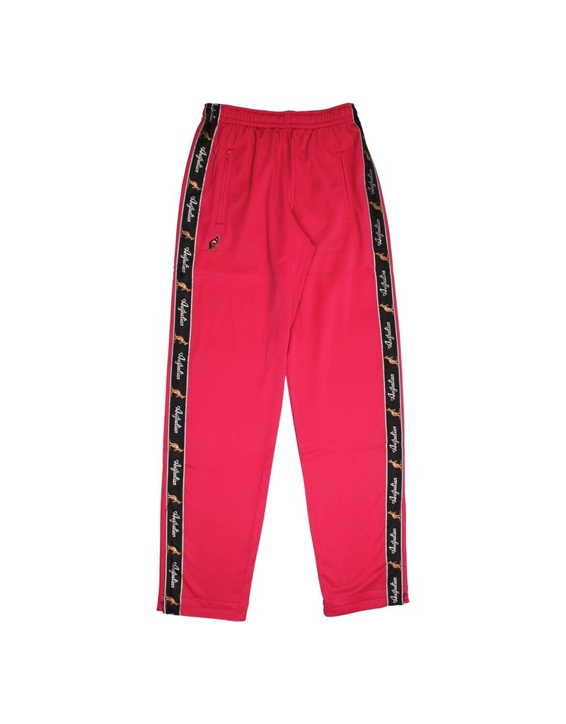 Australian Australian Track Pants with tape (Red Berry/Black)