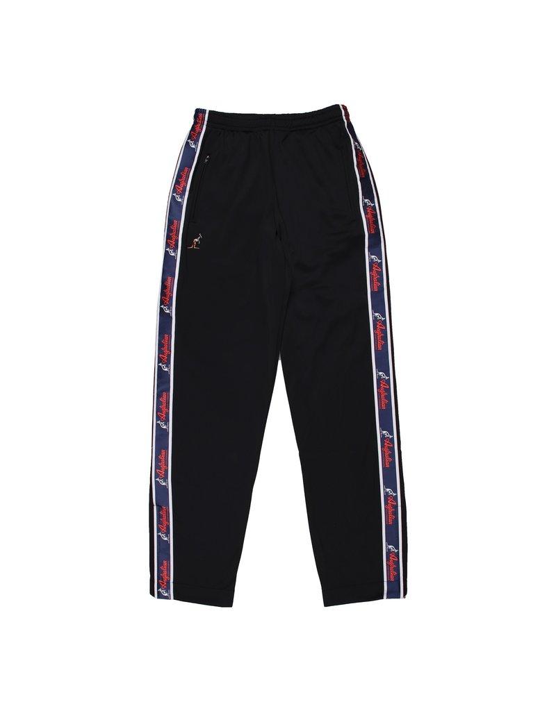 Australian Australian Track Pants with tape (Black/Blue)
