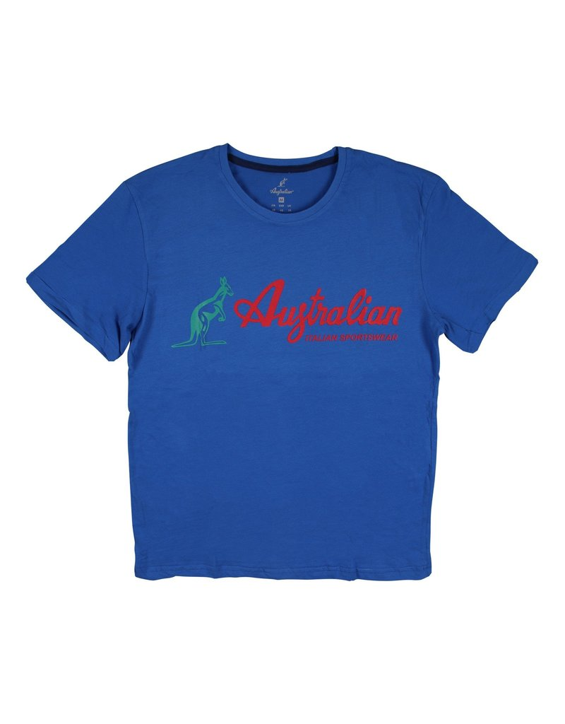 Australian Australian T-Shirt Cotone Stamp (Blue)