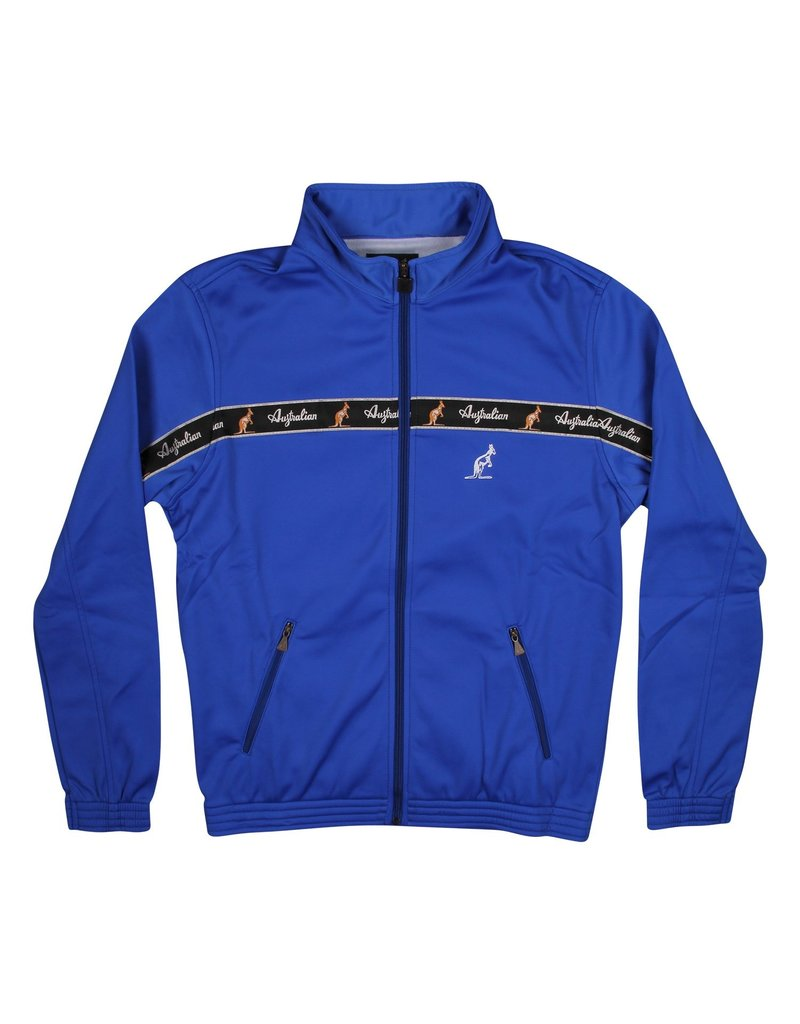 Australian Australian Track Jacket with tape (Cornflower Blue/Black)