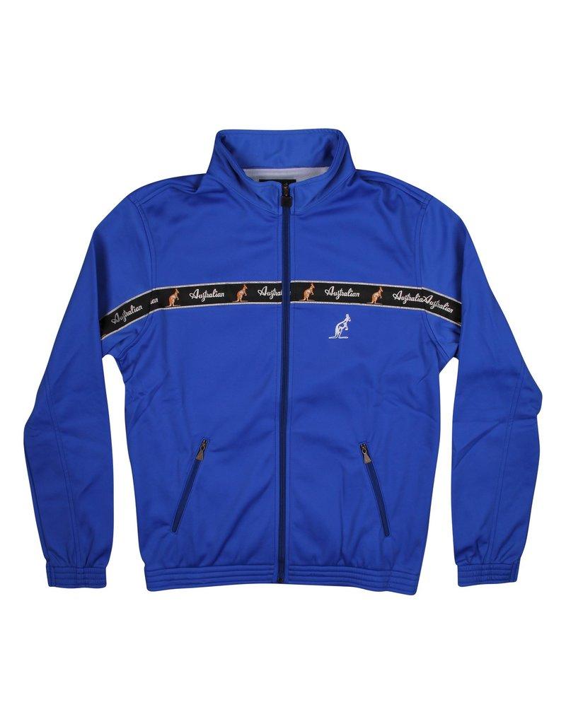 Australian Australian Trainingsjacke mit Streifen (Cornflower Blue/Schwarz)