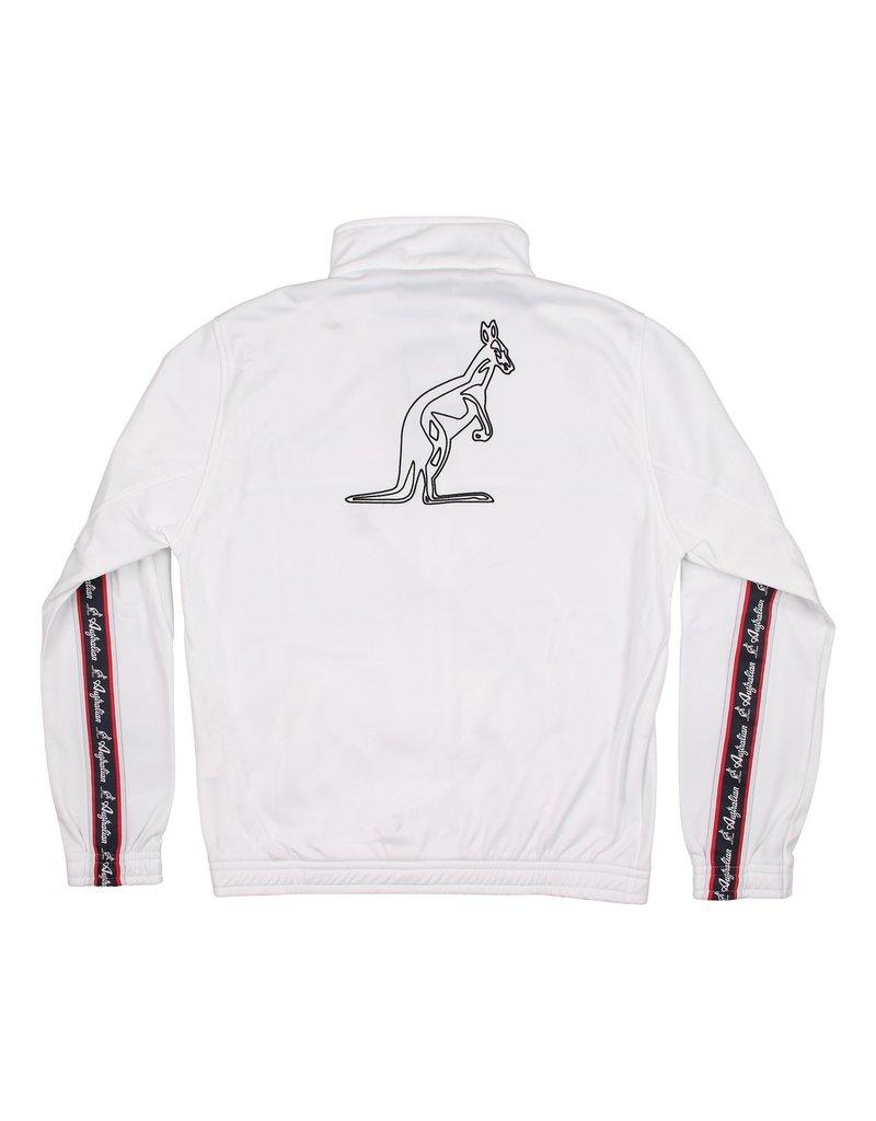 Australian Australian Track Jacket with tape (White/Red)