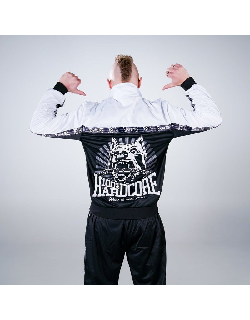 100% Hardcore 100% Hardcore Trainingsjacke 'Classic Black/White'