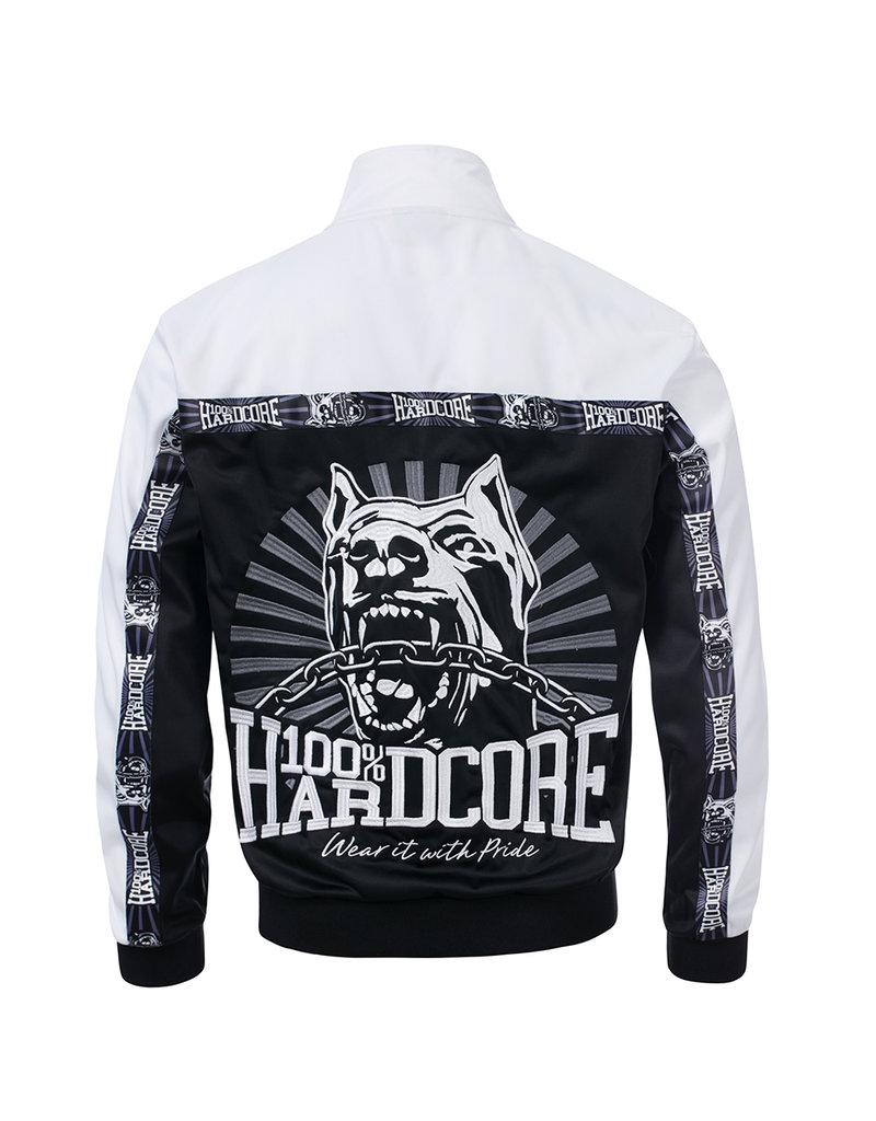 100% Hardcore 100% Hardcore Trainingsjasje 'Classic Black/White'