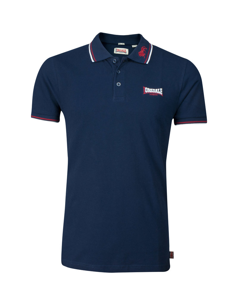 Lonsdale Lonsdale Polo 'Lion' Navy/Dark Red