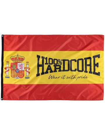 100% Hardcore 100% Hardcore Fahne 'Spanien'