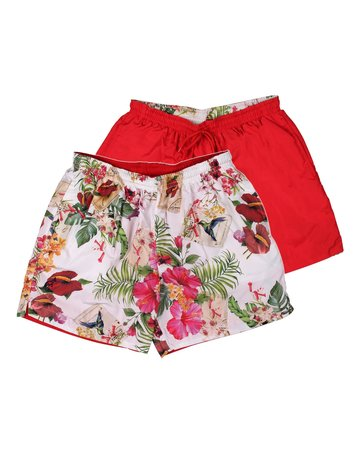 Australian Australian Reversible Short (Red/White Flower)