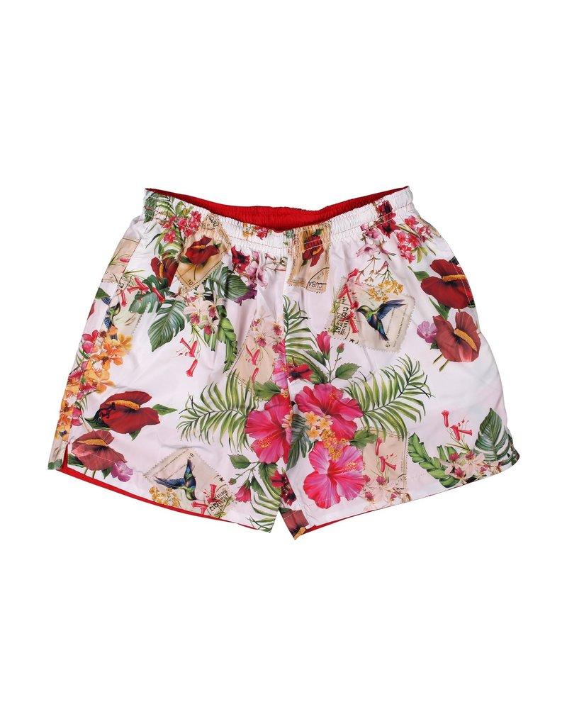 Australian Australian Reversible Short (Red/White Flower)