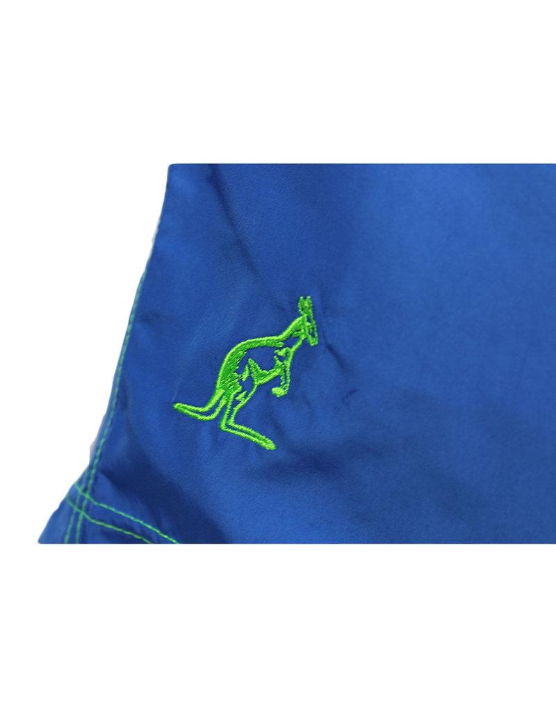 Australian Australian Swimming Shorts (Blue/Neon Green)