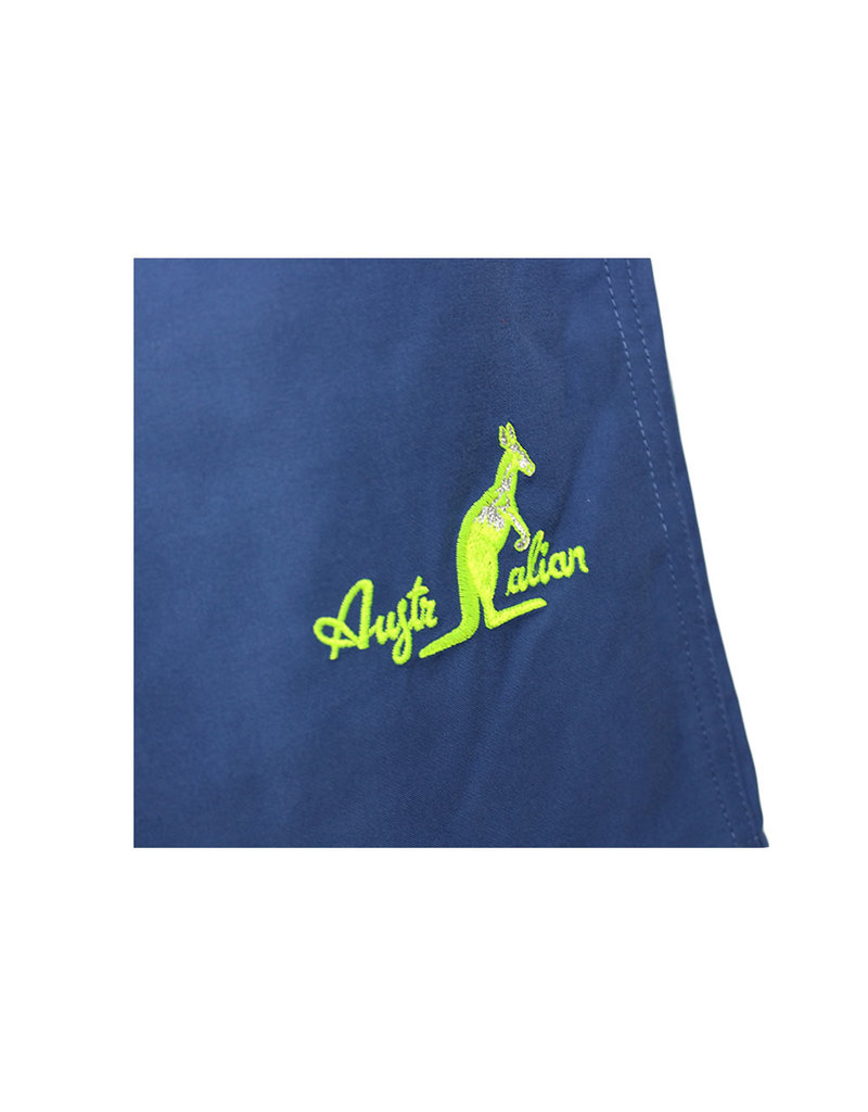 Australian Australian Swimming Shorts (Blue/Neon Yellow-Silver)