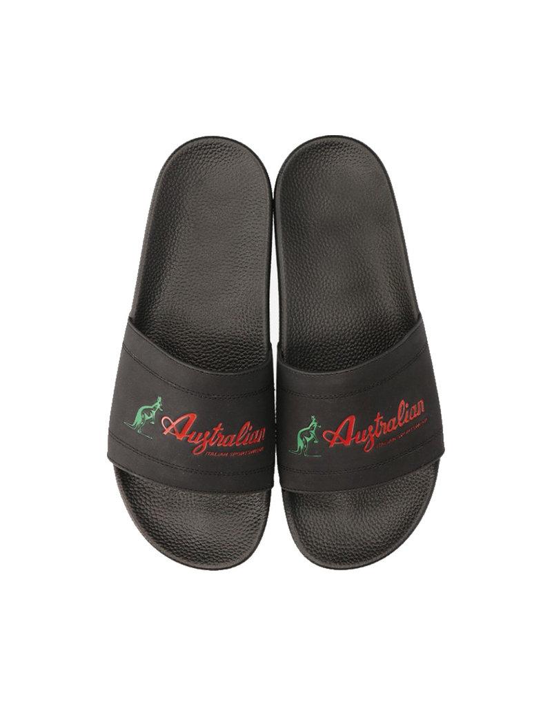Australian Australian Slippers Ace Italia Logo (Black)