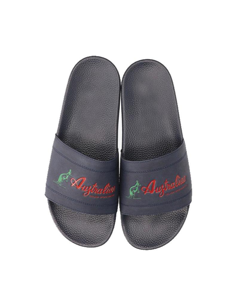 Australian Australian Slippers Ace Italia Logo (Navy)