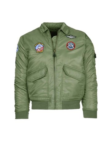 Fostex Garments Fostex Garments Kids CWU Flight Jacket (Green)