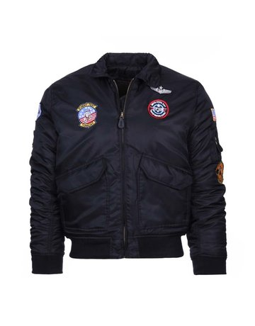 Fostex Garments Fostex Garments Kids CWU Flight Jacket (Black)