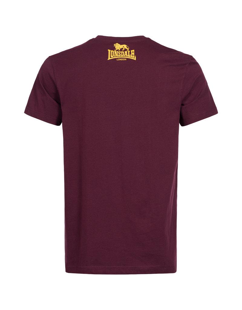 Lonsdale Lonsdale T-Shirt 'Logo' Vintage Oxblood