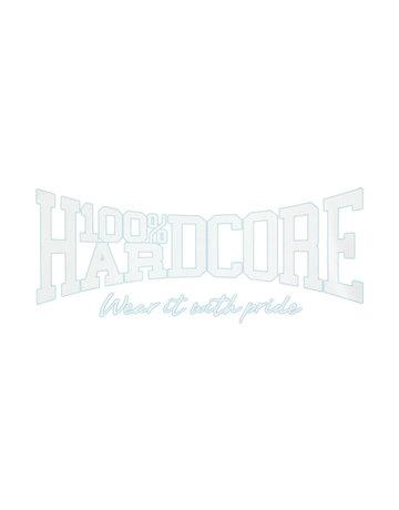 100% Hardcore 100% Hardcore Car Sticker