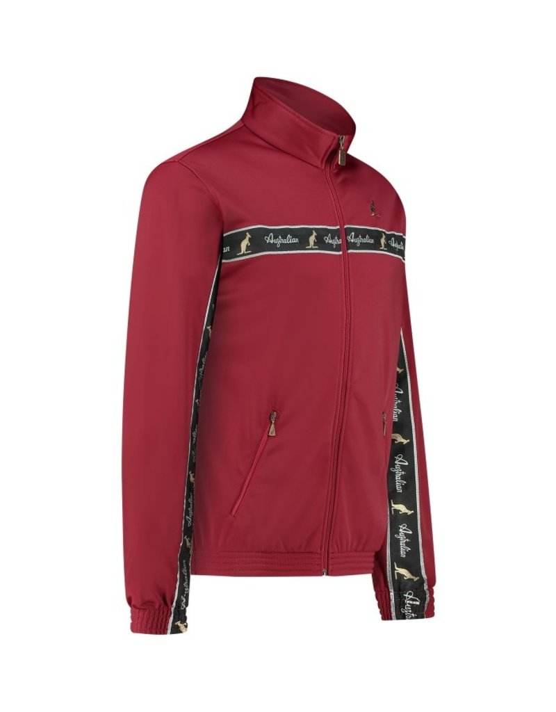 Australian Australian Track Jacket with tape (Burgundy/Black)