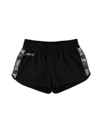 100% Hardcore 100% Hardcore Frauen Hotpants mit Streifen